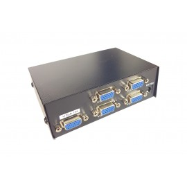 SPLITTER PER MONITOR TV 4 PORTE VGA 200 MHz ALIMENTATORE DC 1920x1440 VGA-2004