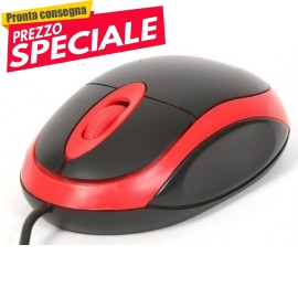 Mouse Usb 1200 Dpi Omega RED