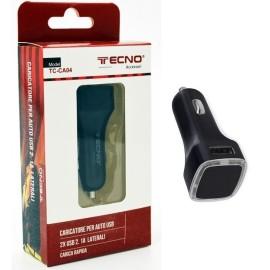 CARICATORE AUTO DOPPIA USB 2,4A TECNO TC-CA04