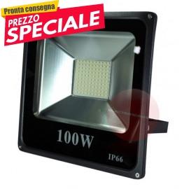 Faretto Slim 100W a led x Esterno Alta Luminosita'