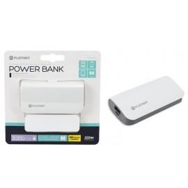PLATINET POWER BANK LEATHER 5200MAH BIANCO