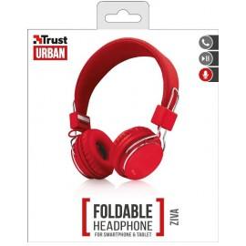 TRUST ZIVA FOLDABLE HEADPHONES RED