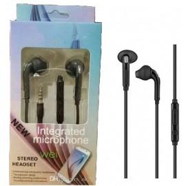 AURICOLARI IN-EAR CON MICROFONO S6 NERO