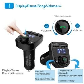 Car Kit Trasmettitore FM Bluetooth vivavoce