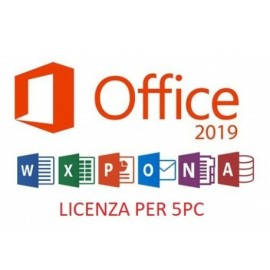 OFFICE 2019 PROFESSIONAL PLUS 5PC - Rigenerata