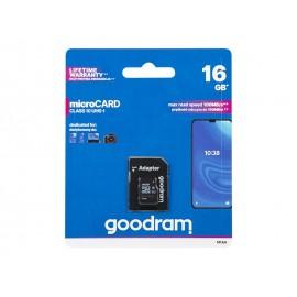 Scheda microSDHC da 16 GB + annuncio SD CL10 GOODRAM