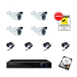 Kit videosorveglianza 3 mpx 4 cam + hdd 250 gb