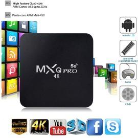 TV BOX ram 4GB 64GB android 10 wifi internet smart tv full hd 1080p mxq pro 4k