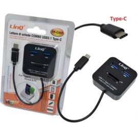 LETTORE DI SCHEDE-COMBO USB3.1 TYPE-C