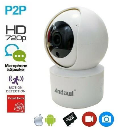 Smart Camera 5 MP Multi-Funzione WIFI rotazione 355° Nightvision