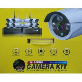 Kit sorveglianza WIRELESS 8 CAM 4K