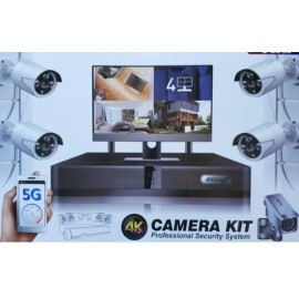 Kit sorveglianza 4 CAM wireless 4k