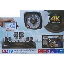 Kit sorveglianza 8 CAM 4k
