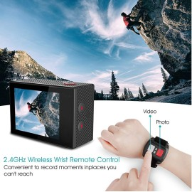 Fotocamera action cam 16MP WiFi 4K + TELECOMADO DA POLSO