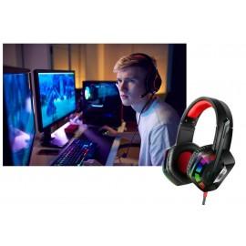Cuffia gaming led rgb microfono 7.1 canali gioco usb stereo computer Q-E6