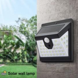 Applique Solare 40 led Esterno a led con Sensore di Movimento
