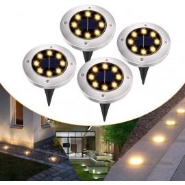 4 LAMPADE DA GIARDINO 8 LED