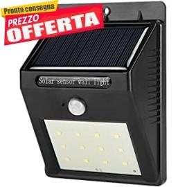 Luce Solare LED Esterno, 20 LED con Sensore di Movimento