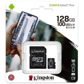 MEMORY CARD MICRO-SD 128GB KINGSTON CANVAS UHS-I