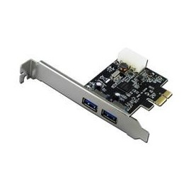 SCHEDA USB3.0-PCX PCI-EX USB 3.0, 10 volte veloce dell'USB-2.0. 5Gbit/s