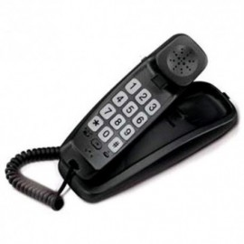 TELEFONO CON TASTI GRANDI NERO BRAVO SLIM