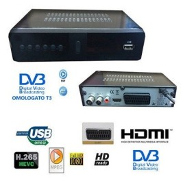 DECODER RICEVITORE DIGITALE TERRESTRE DVB-T2 H.265