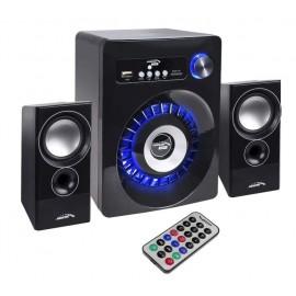 CASSE 2.1 BT MULTIMEDIALI FM TF AUX USB AUDIOCORE