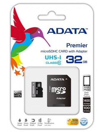 Micro Sd 32 gb  Adata cl 10